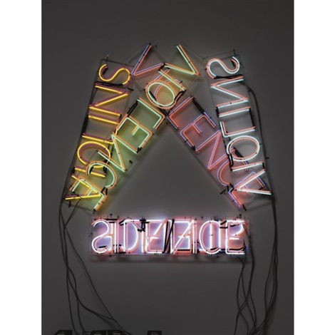 violins violence silence by bruce nauman