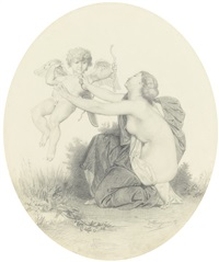 il s'enfuit à tire d'ailes by william adolphe bouguereau