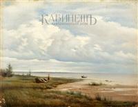 облачный день. берег финского залива by mikhail konstantinovich klodt von jurgensburg