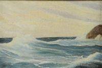 vagues sur les rochers by nikolai nikanorovich dubovskoy