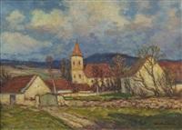 springtime at janovsky´s church by ota bubenicek