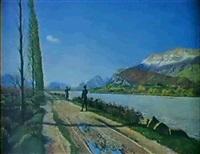 chasseurs alpins sur les rives du drac by louis guiguet