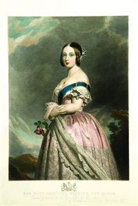 queen victoria (after winterhalter) by francois forster