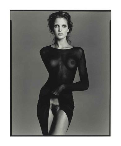 stephanie seymour, model, new york city, may 9 by richard avedon