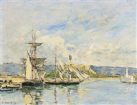 antibes, le port by eugène boudin