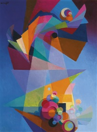 embarkation by stanton macdonald-wright