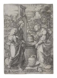 christ and the woman of samaria at the well by dirk jacobsz vellert