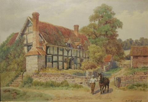 dudging exhall shakespeare village by alfred robert quinton