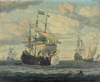 canonnade dans un port by abraham jansz storck