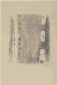 manhatten 3 (stone 2) by lyonel feininger