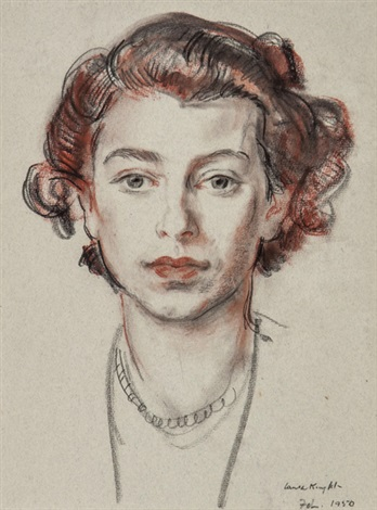 portrait of hm the queen as princess elizabeth by dame laura knight