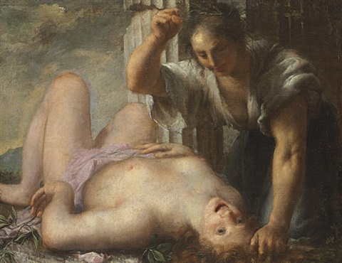 an allegory of poverty, the enemy of the arts by andrea celesti