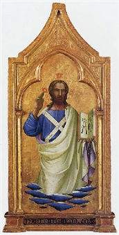 cristo benedicente by lorenzo (piero di giovanni) monaco