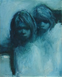 girls in moonlight by alan william baker