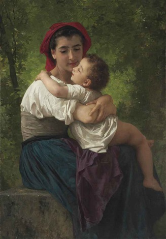 le petit câlin by william adolphe bouguereau
