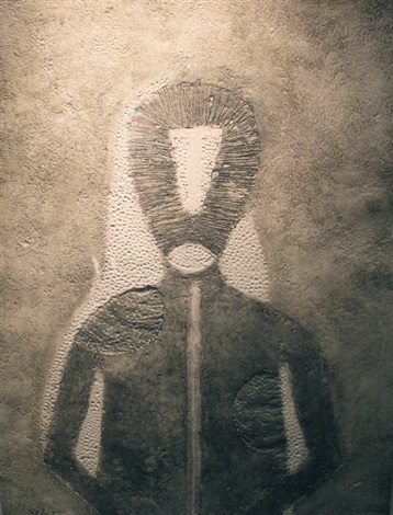 hombre en gris by rufino tamayo