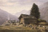 ansicht eines walliser bergdorfes by emil aufdenblatten