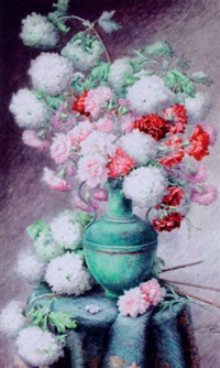 hydrangeas and carnations by juliette goury
