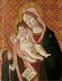 the madonna and child with st. john the baptist by filippo di tomaso (fra) lippi