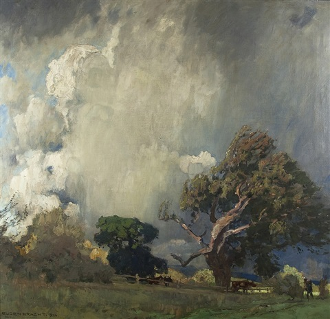 the gathering storm by eugen felix prosper bracht