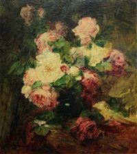 bouquet de roses by georges jeannin