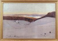 stiller winterabend by ferdinand otto leiber