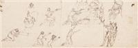 feuille d'étude avec plusieurs personnages (study) by francesco (da gubbio) allegrini