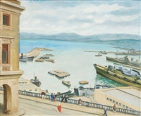 le port d'alger by jean lauze