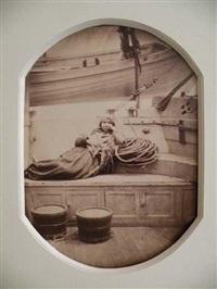 femme de la famille mick-macks sur le gaillard d'arrière de l'ardent by paul-emile miot