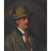 tyrolian countryman by emma (edle von seehof) müller