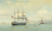 the corvette galathea's arrival to fort dansborg, tranquebar the 12th of october 1845 by arne skottenborg frederiksen