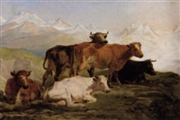 kühe auf der alm by henry courtney selous