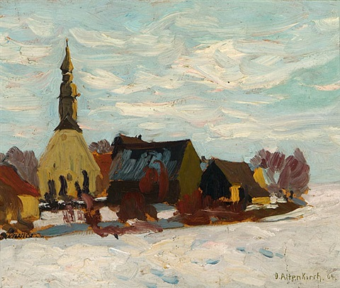 winterliches dorf by otto altenkirch