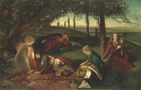the sancgreall, king arthur healed of his grievous wound by james archer