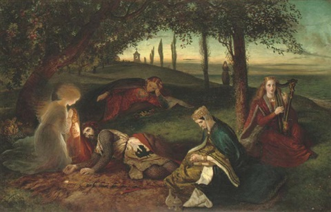 the sancgreall king arthur healed of his grievous wound by james archer
