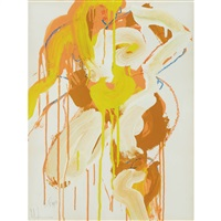 seated figure (double sided) by norman bluhm