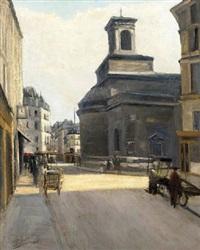 a street scene, paris by marcel basler