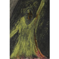 untitled (figure in yellow) by rabindranath tagore