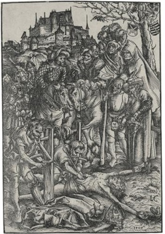 the martyrdom of saint erasmus by lucas cranach the elder