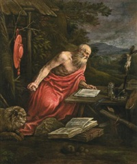 saint jerome by francesco bassano the younger