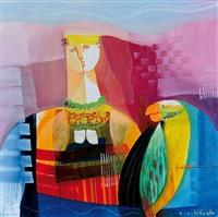 figura con pappagallo by vittorio maria di carlo