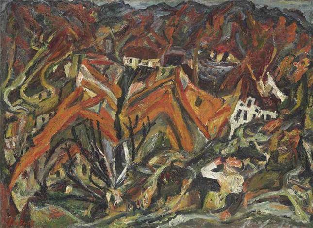 vue sur le village by chaïm soutine