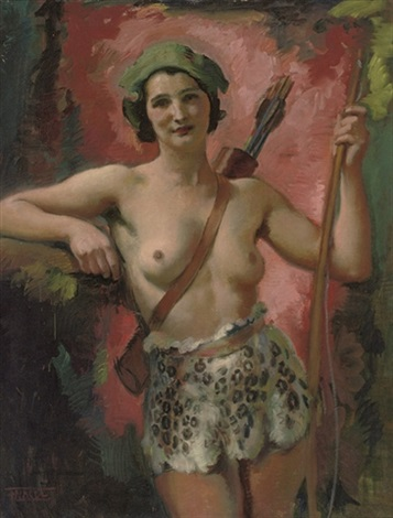 an amazonian huntress by frantisek naske