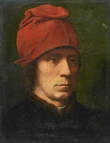 portrait of a man in a fur trimmed coat by hans memling