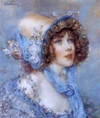 jeune fille au chapeau de paille by abel faivre