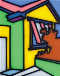 the yellow green room by howard arkley