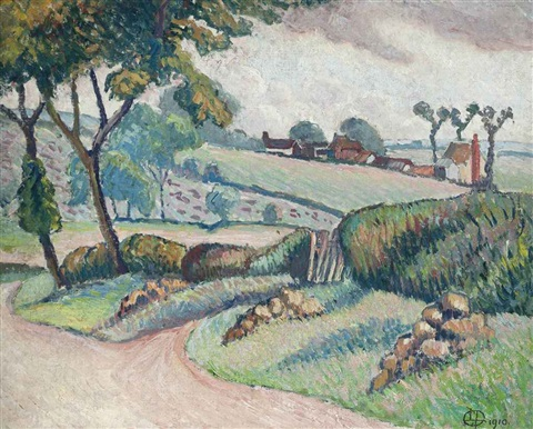 duton hill essex by lucien pissarro