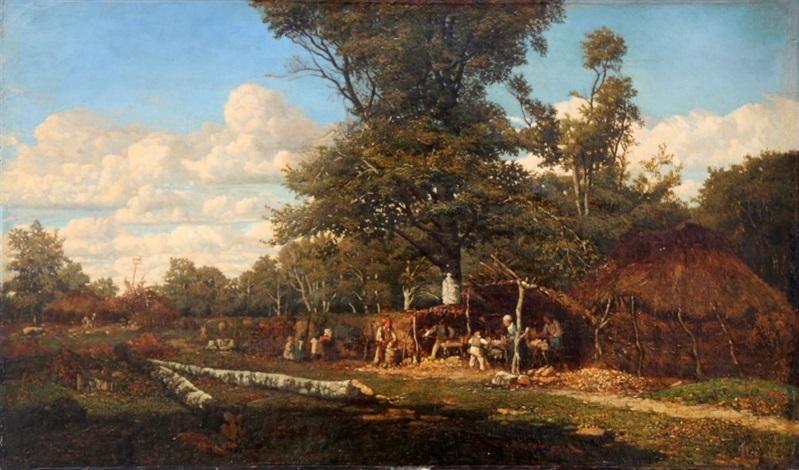 le bûcheron et sa famille à lorée de la forêt by camille flers