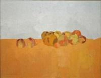 still life with orange by alexey krasnovsky