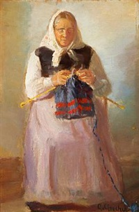 sørine møller knitting, skagen by anna kirstine ancher